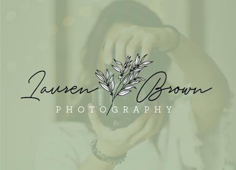 Lauren Brown Photography floral botanical logo