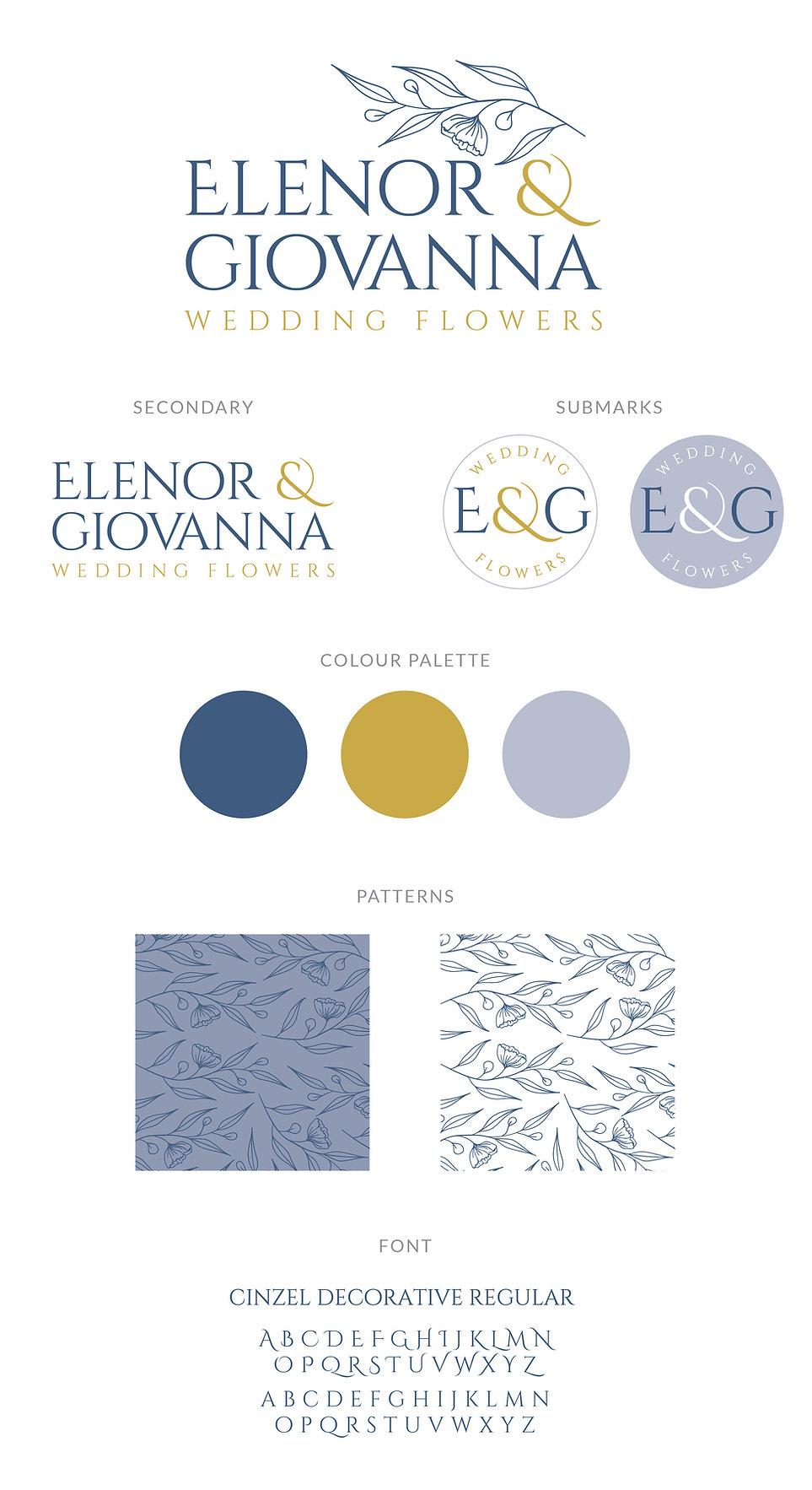 Elenor & Giovana Flowers Logo Branding.j