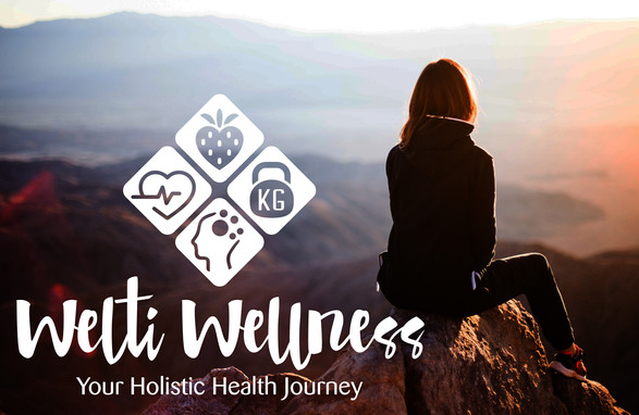 Welti Wellness Health and Wellness logo with icons
