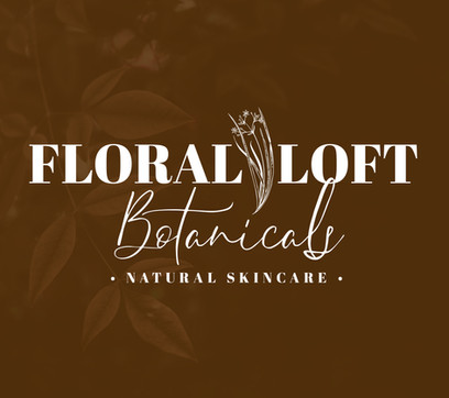 Floral Loft Botanicals Natural Skincare logo with a floral  element
