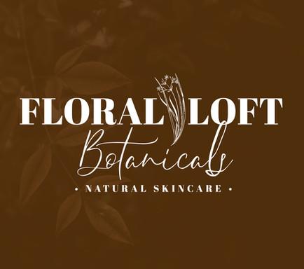 Floral Loft Botanicals Natural Skincare logo with a floral  element