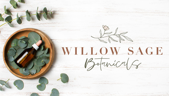 Willow Sage Botanicals skin care floral botanical logo