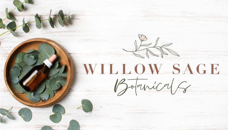 Willow Sage Botanicals skin care floral botanical logo