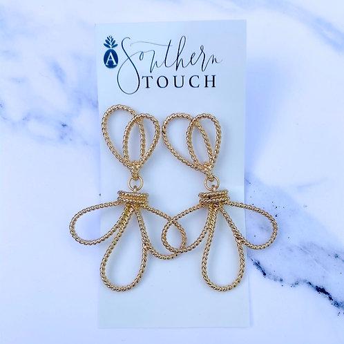 Gold Knot Twist Earrings