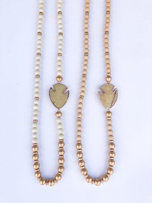 Side arrowhead necklace