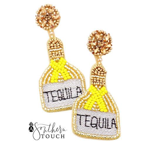 Tequila Earrings Yellow