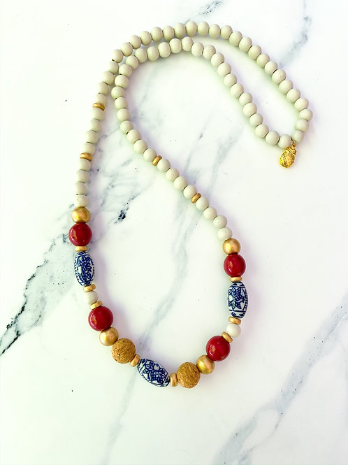 Festive Necklace - White Layering