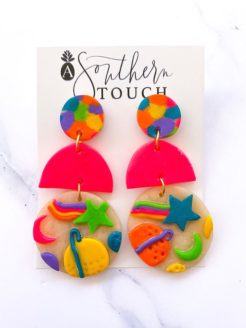 90s collection clay earrings