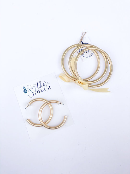 Matte Hoops and Bangles