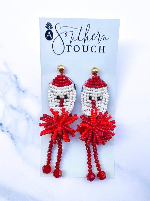 Dancing Santa Earrings