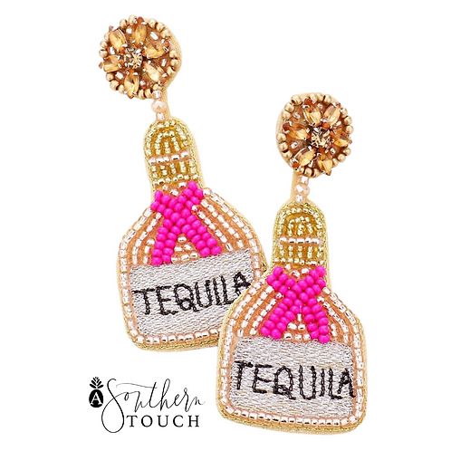 Tequila Earrings pink