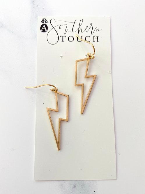 Hollow Bolt Earrings