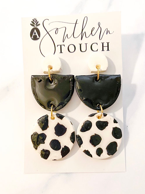Dalmatian Clay Earrings
