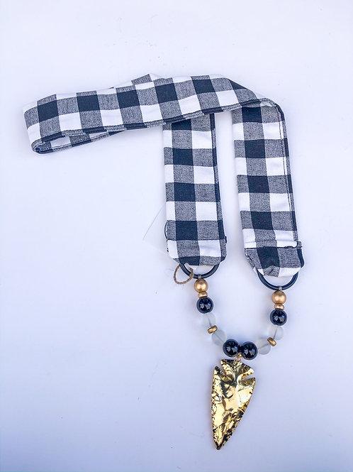 Buffalo Check Arrowhead Necklace - The Mona