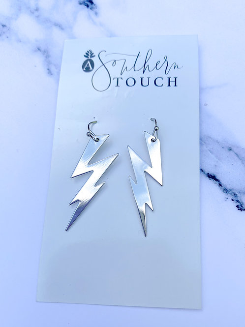 Small Silver Bolt Dangles