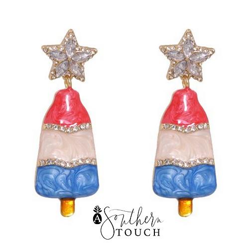 Star Topped Popsicle Earrings