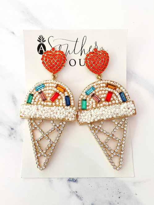 Cherry on Top Ice Cream Earrings