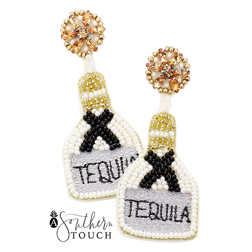 Tequila Earrings in white