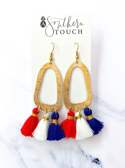America Tassel Earrings