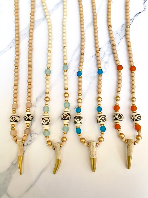Dipped Gold Antler Necklace
