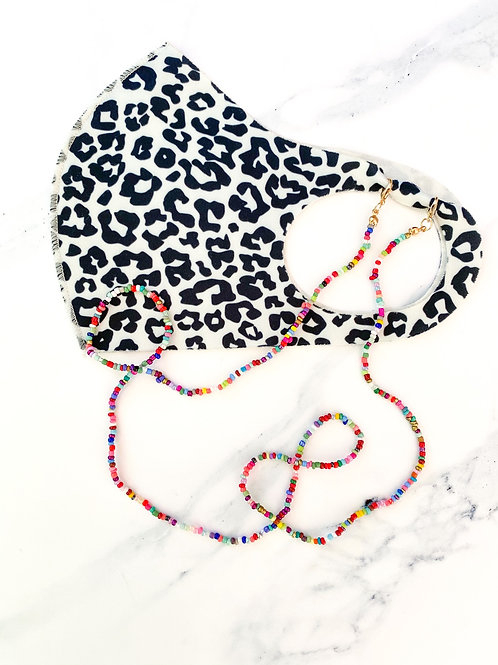 Rainbow Mask Lanyard with Lobster Hook