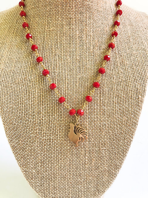 Rooster Choker Necklace