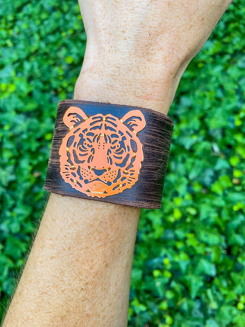 Leather Cuff Tiger Bracelet