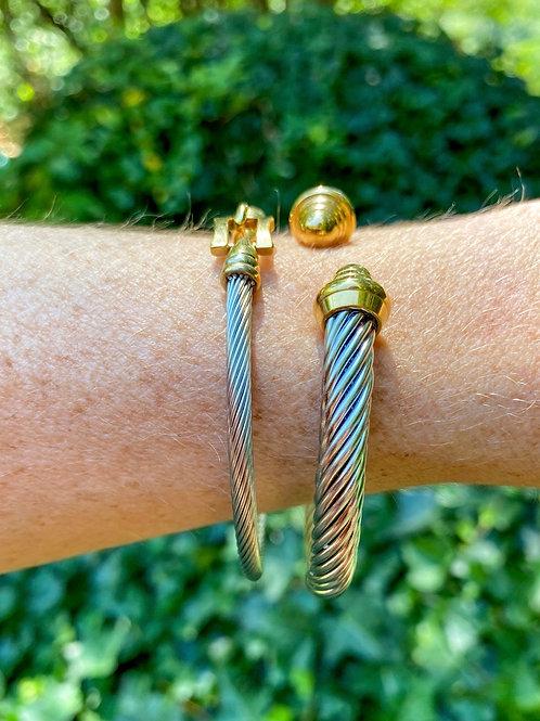 Designer inspired 2 tone bracelets