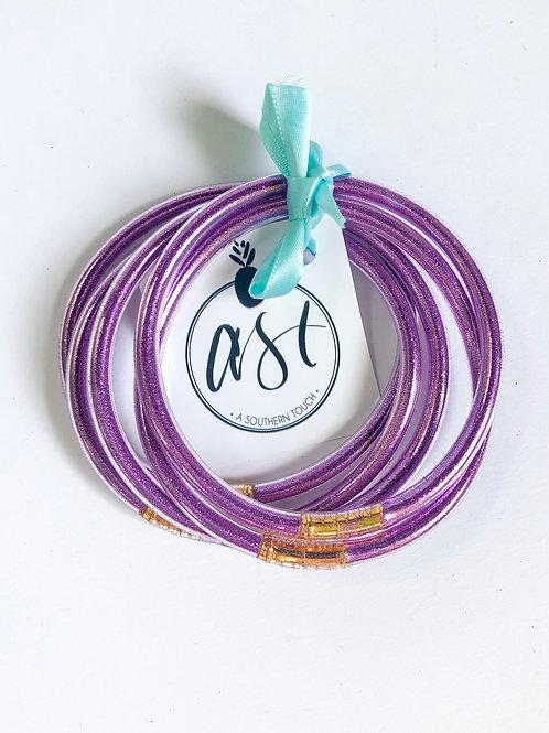 Jelly Tube Bracelets in Purple