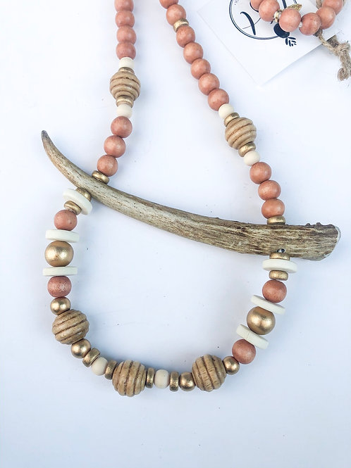 The Payton antler necklace
