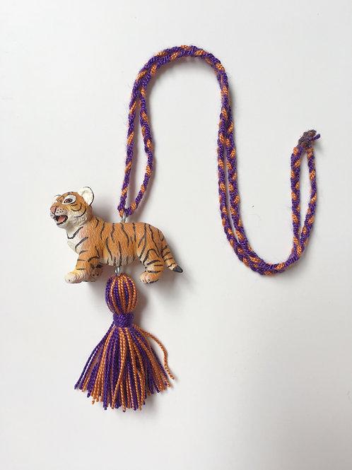 Kids Tiger tassel necklace