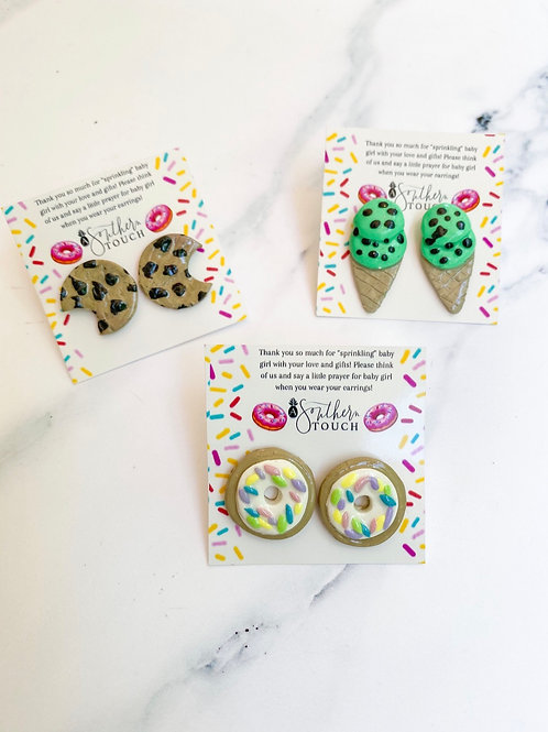 Food Stud Clay earrings