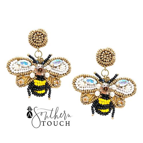 Beaded Bee Earrings - option b