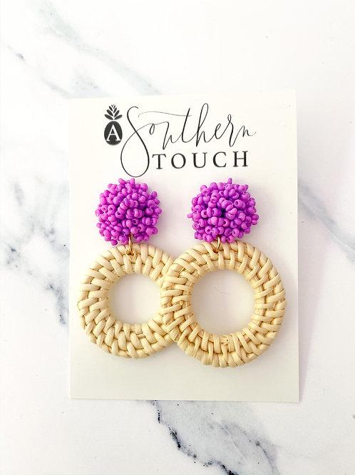 The Masie Earrings in Purple