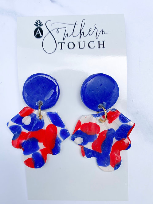 4th of July collection clay earrings