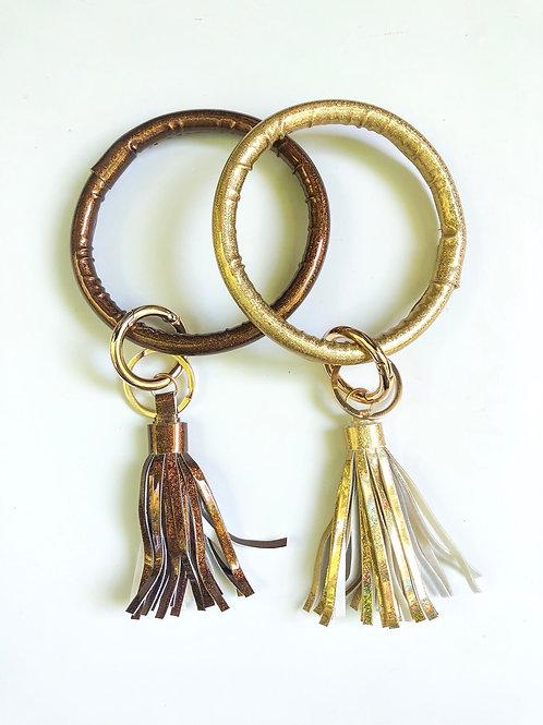 Metallic O Ring Keychain