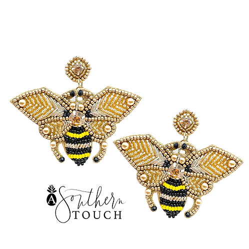 Beaded Bee Earrings - option A