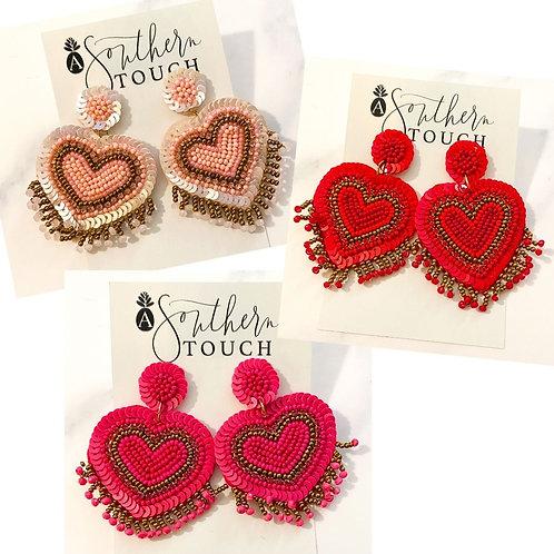Sequin Beaded Hearts