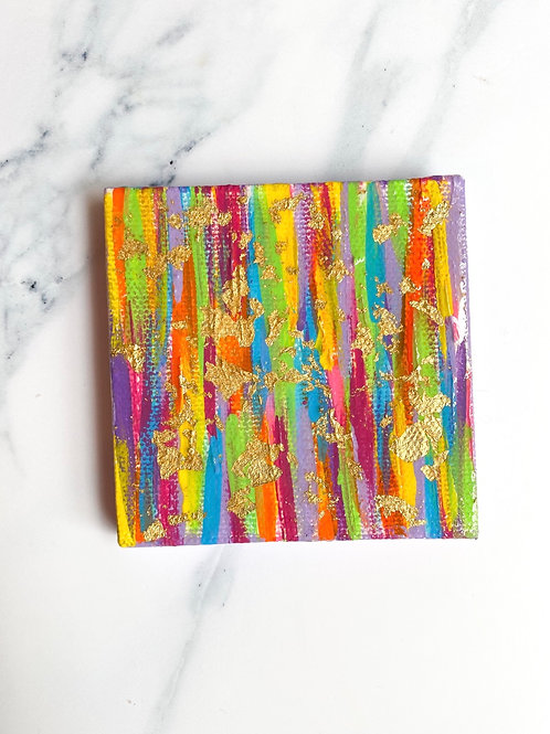 Small Colorful Canvas - Purple Sides