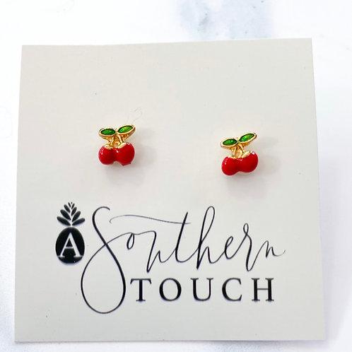 Tiny cherry studs