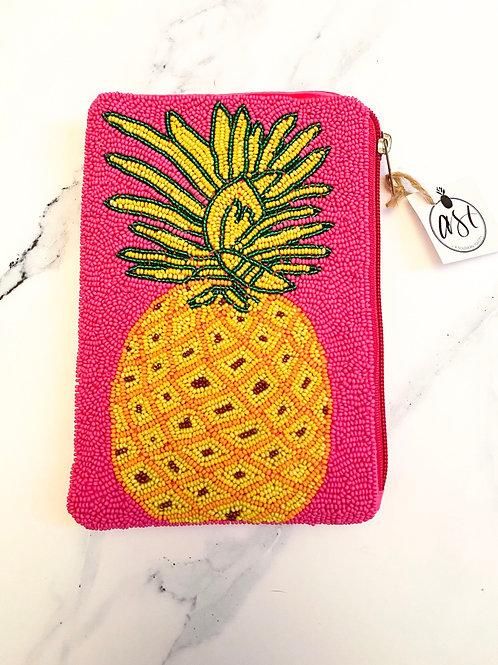 Beaded Pineapple Clutch