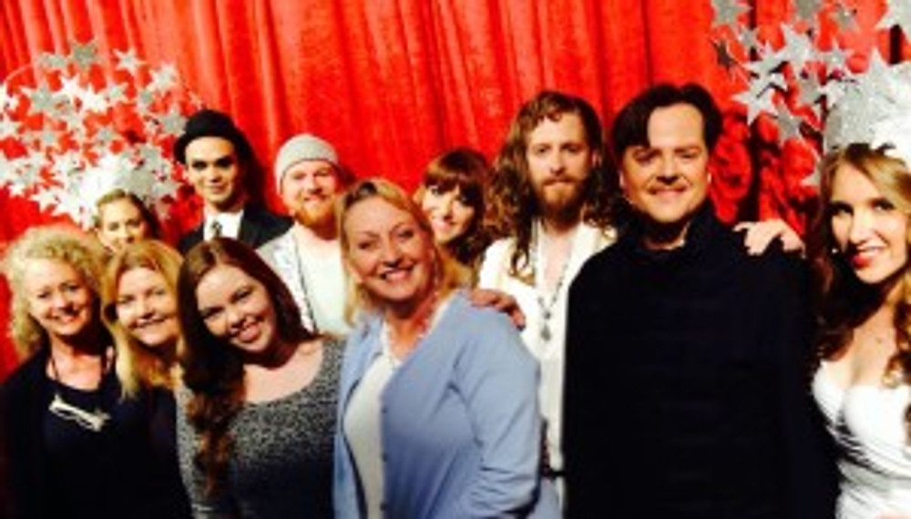 Diane & Miranda May with the cast of DOMA's Jesus Christ Superstar