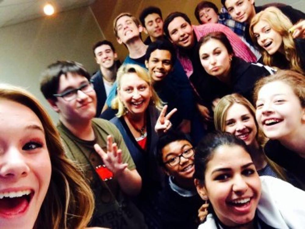 Having fun with SCREEN TEENS, la acting classes for teenagers, best class for teen actors in burbank