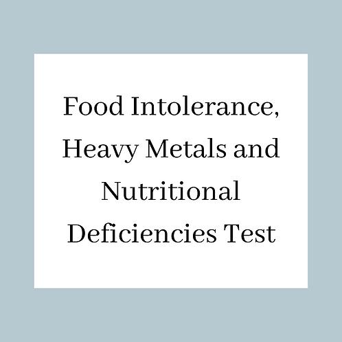 Food Intolerance, Heavy Metals and Nutritional Deficiencies Test