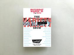 Laundromat Art Space show flyer