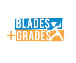 Blades + Grades logo design