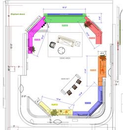 Floorplan showing mobile flats