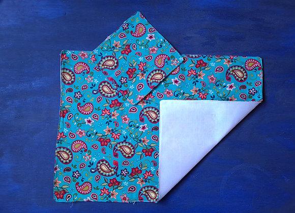 Mantel Floreado Azul Turquesa