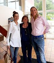 Ian White, Jane White et Myriam Reboul