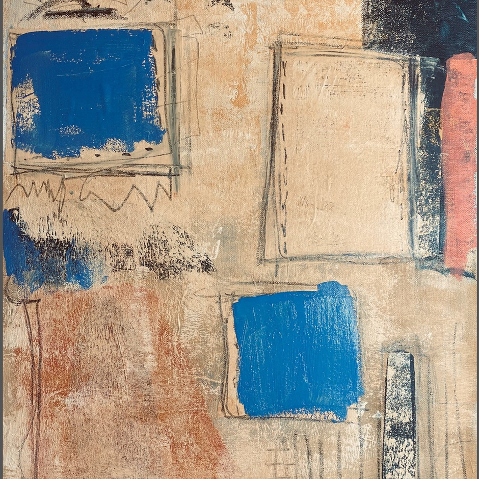"""Pencil Boxes""  (on canvas board)"